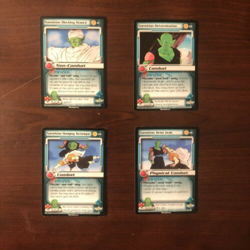 DBZ Dragon Ball Z Uncommon Piccolo Cards, Action Card Set From The Cell Saga