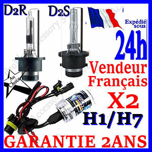 paire 2 ampoule lampe feux remplacement pour kit xenon hid h1 h7 d2s d2r 35w 55w ebay. Black Bedroom Furniture Sets. Home Design Ideas