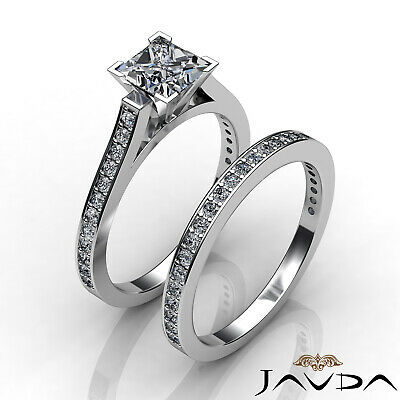 4 Prong Bridal Set Round Diamond Engagement Ring GIA F Color VS2 Clarity 1.57Ct 3