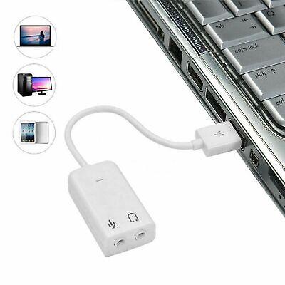 Tarjeta Sonido USB externa audio estéreo Adaptador y Conversor Canales Virtuales