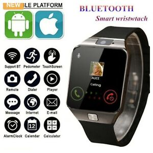 BLUETOOTH SMARTWATCH WITH CAMERA & MUSIC