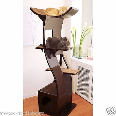 Best Cat Scratching Post Corner With Perch Lounger Towers Climber Espresso (Best Scratching Posts)