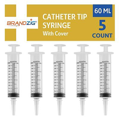 60ml Syringe with Cover - 5 Pieces by Brandzig – FDA Approved