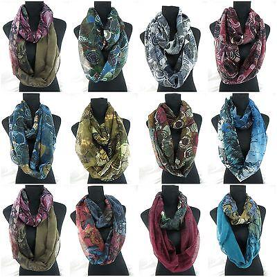 US SELLER-lot of 12 bulk infinity Scarf Wrap Fashion Women circular cowl loop