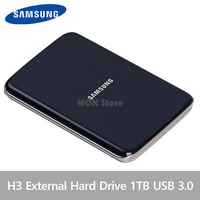 Samsung H3 Portable External Hard Disk Drive HDD USB 3.0 1TB - Blue Black