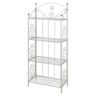 Outdoor Garden 4 Tier Plant Stand Holder Four Shelves Storage Display Shelf