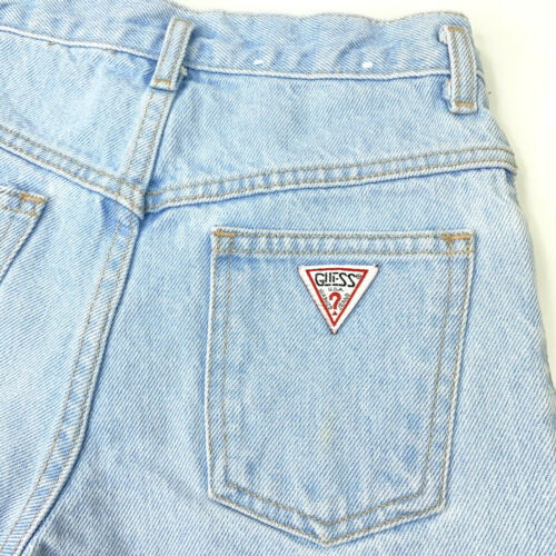 Vintage 90s GUESS Jeans Georges Marciano Light Wash Denim Shorts - Girls Size 10