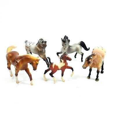 Breyer Stablemates Horse Lot of 5 Draft Stallion Foal Figures Figurines