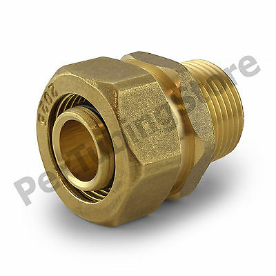 "3/4"" PEX-AL-PEX Compression x Male Threaded Brass Adapter Fitting"