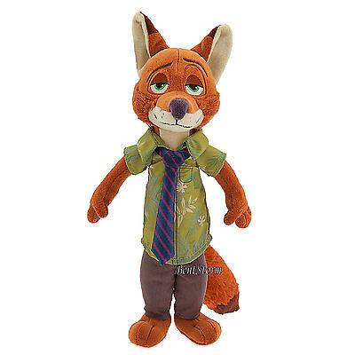 "Zootopia Nick Wilde FOX Plush Soft Toy Doll 13"" Disney Store FREE SHIPPING NEW"