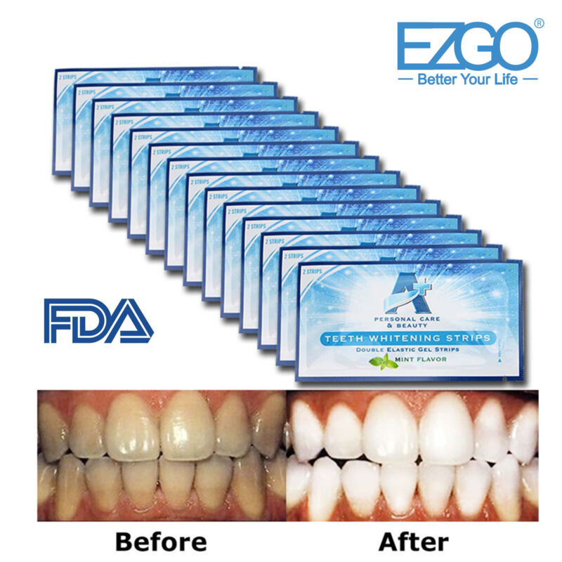 EZGO A+ A Plus 28pc FDA Registered Teeth Whitening Strips Bleaching