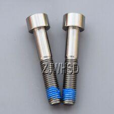 2pcs M9 x 1.25 x 50 Titanium Ti Screw Bolt Allen Hex Socket Cap Head