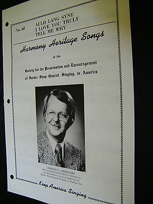 SHEET MUSIC HARMONY HERITAGE SONGS AULD LANG SYNE, I LOVE YOU TRULY. TELL ME WHY