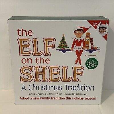 Elf on the Shelf A Christmas Tradition Blue Eyed Girl Scout Doll & Book NEW