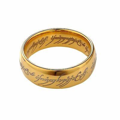 Lord of the Rings Metal Ring Replica - LOTR Cosplay Hobbit Costume