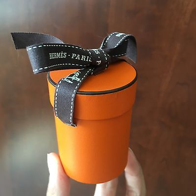 Hermes Round/Cylinder Gift Box W/ Ribbon (Small) For Scarf / Accessories or More