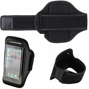 Premium Black Running Sports Gym Armband Case Cover For Apple ipod Touch 5 5th G