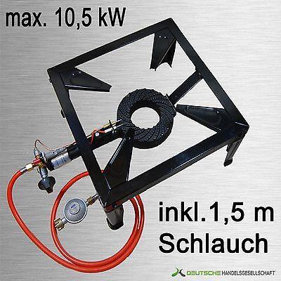10,5 KW Gaskocher Hockerkocher 4 Fuß Kocher Camping Gasbrenner + Schlauch+Regler