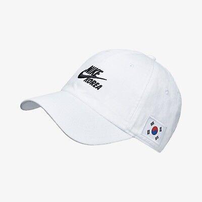 New Nike H86 Korea Adjustable Cap/Hat - White/Black(AO0821-100)