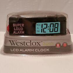 Westclox Digital LCD Alarm Clock Portable Battery Operated