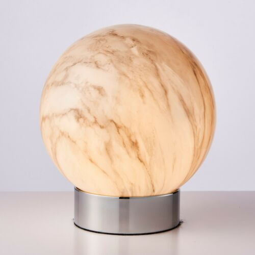 Poole+Lighting+Oscara+Marble+Effect+Glass+Table+Lamp+with+Chrome+Base