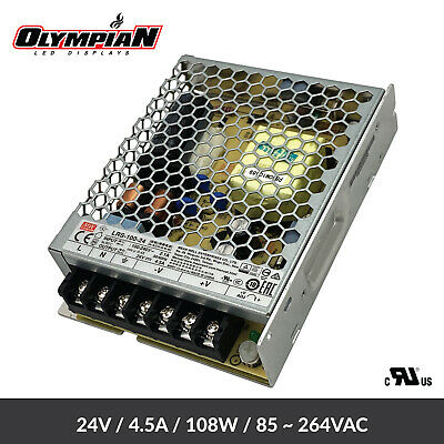 Mean Well Lrs-100-24 Power Supply 24v 4.5a 108w Output 85-264vac Input