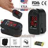 Finger Tip Pulse Oximeter Blood Oxygen saturation SpO2 PR Monitor + Case&battery