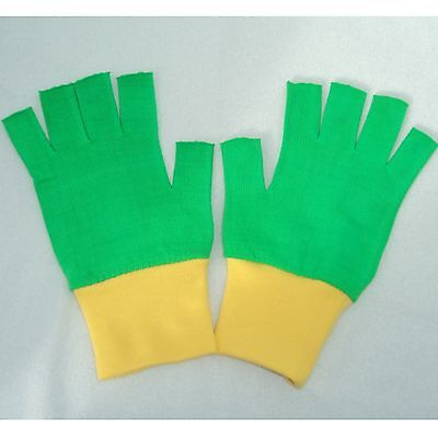 Pokemon Ash Ketchum Trainer Halloween costume Gloves Green/Yellow Choose Size
