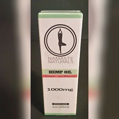 ⭐ Namaste Naturals Hemp Oil Organic 100% Natural 1000mg 30ML 30 Day Supply
