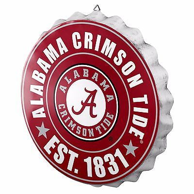 - Alabama Crimson Tide Bottle Cap Sign - Est 1831 - Room Bar Decor NEW 13.5