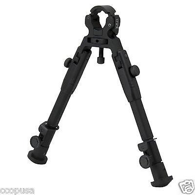 "CCOPUSA 9"" Universal Barrel Clamp Mount Adjustable Tactical Rifle Bipod BP-39S"
