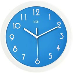 hito Silent Kids Wall Clock Non Ticking 10 inch Excellent Accurate Sweep Move...