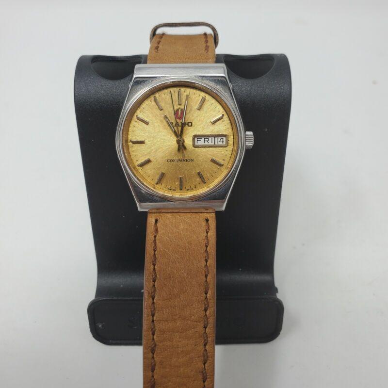 Vintage Rado Companion Swiss Made  Automatic Day Date Men