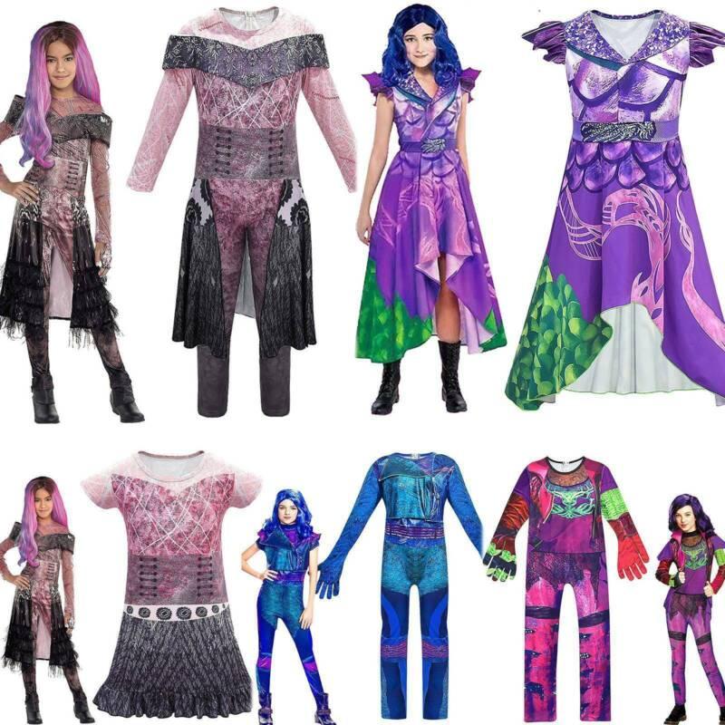 Kids Girls Descendants 3 Audrey Mal Jumpsuit Halloween Cosplay Fancy Costumes