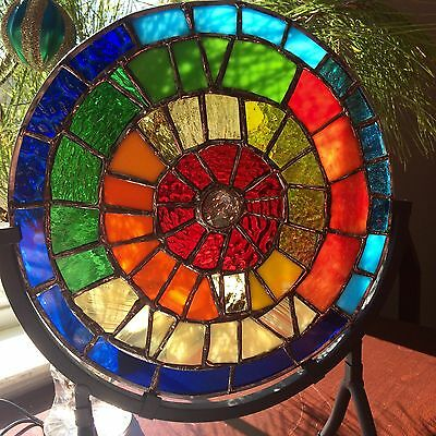 Stained Glass  Suncatcher Rainbow Sculpture Tiffany Style