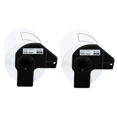 2 Roll 200 Shipping Labels Dk-1241 4 X 6 For Brother Ql-1050n Ql-1110nwb