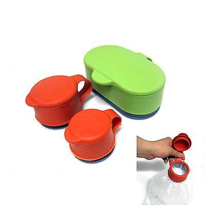 3p Plastic Bag Preserver Screw Cap Reusable Bag Container Seal Cap Food Storage