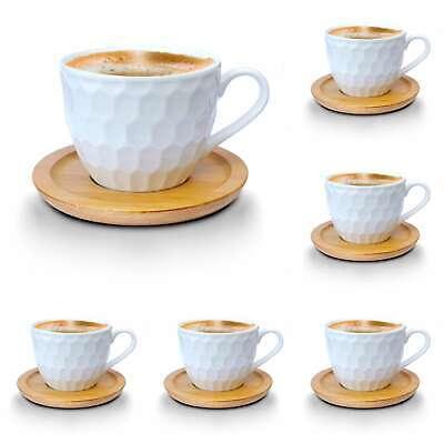 Kaffeetassen Teetassen Espressotassen-Set weiss Porzellan Tassen Teeservice