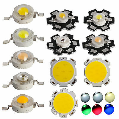 10x 50x 1w 3w 5w 7w Smd Cob Led Chip With Star Pcb High Power Beads White Light