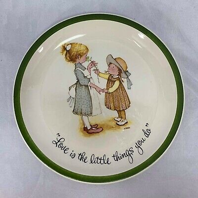 """VTG Holly Hobbie Plate Friends Friendship Life Little Things Collector's 10.5"""""""