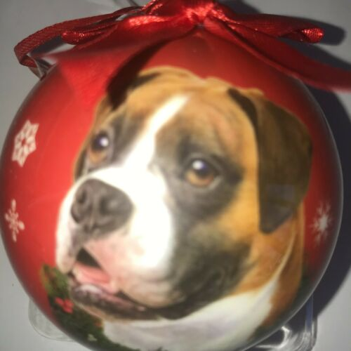 Boxer Christmas Ornament Shatter Proof FREE SHIPPING