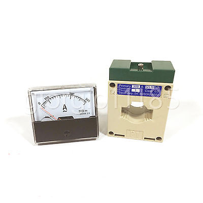 Us Stock Analog Panel Amp Current Meter Gauge Dh670 300a Ac Current Transformer