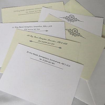 Correspondence Envelopes - Personalised Correspondence Cards Note Card Writing Set Thank You With Envelopes