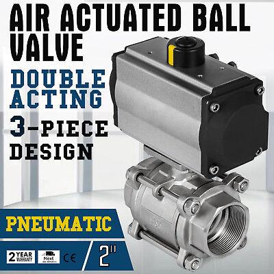 2 Pneumatic Ball Valve Double Acting Air Actuated Actuator Ball Valve 1000 Psi