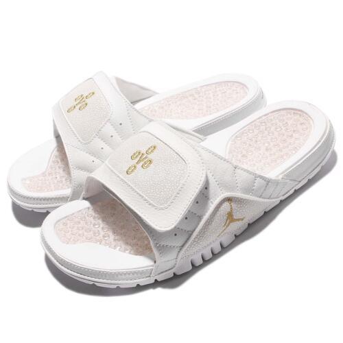 f7c7eaa4067b6b Nike Jordan Hydro XII 12 Retro OVO Drake White Gold Men Slide Sandal 873907- 102