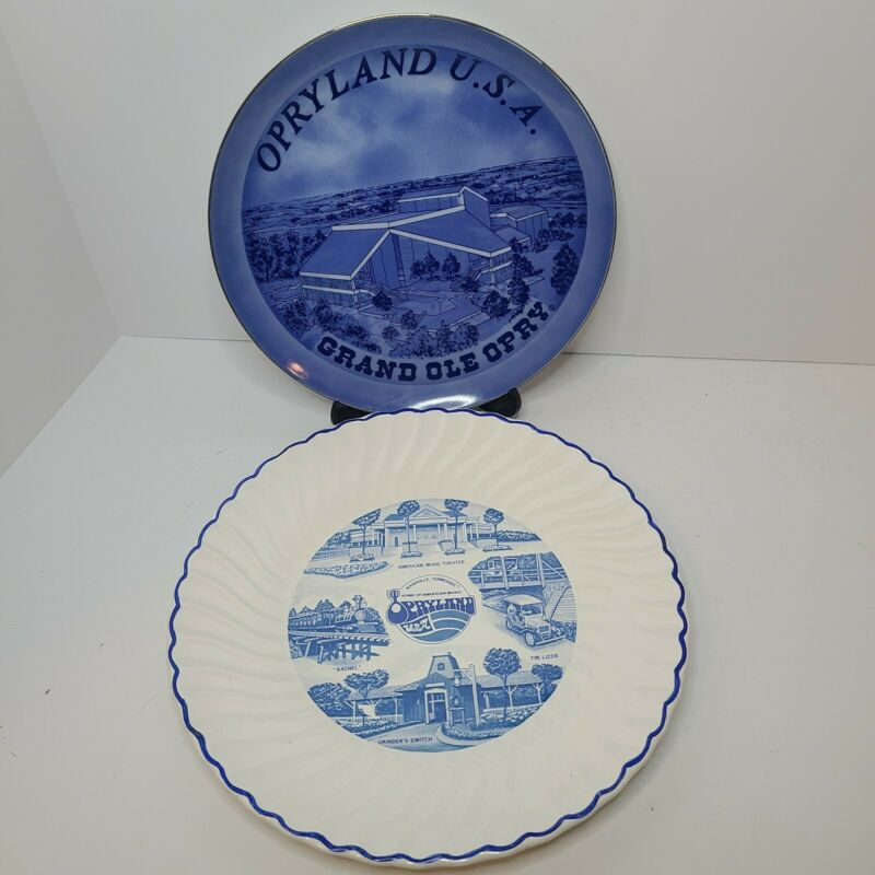 Vintage Opryland USA Souvenir Plates Wall Decor Collectable Nashville Tennessee