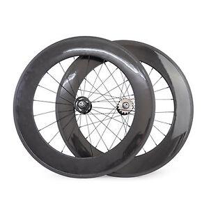 88mm-Tubular-Carbon-Track-Bike-Wheelset-Fixed-Gear-Single-Speed-Bicycle-Wheels