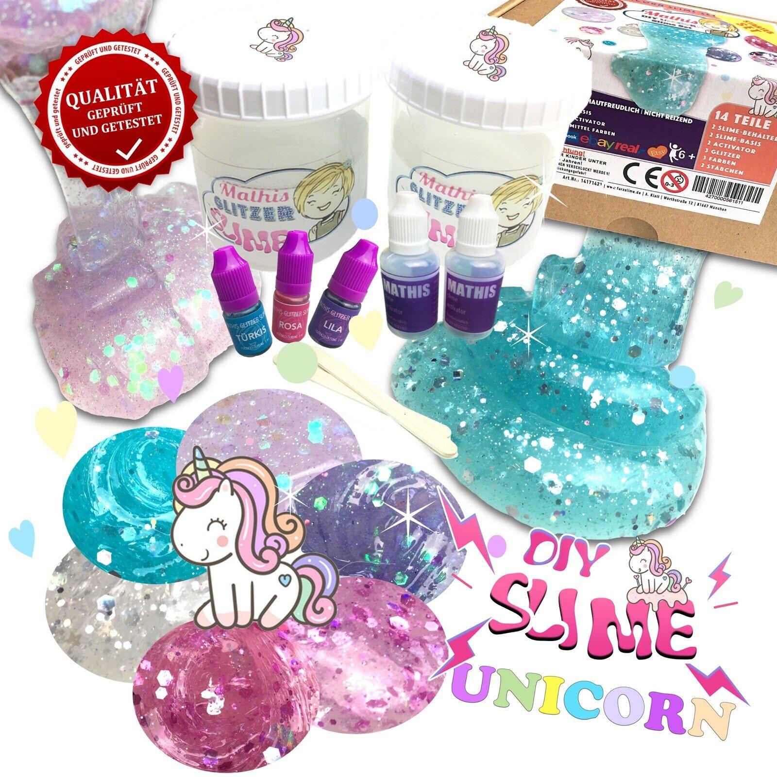 Unicorn Slime Set 🦄💖  Schleim selber machen 💕 Einhorn Schleim Kit für Mädchen