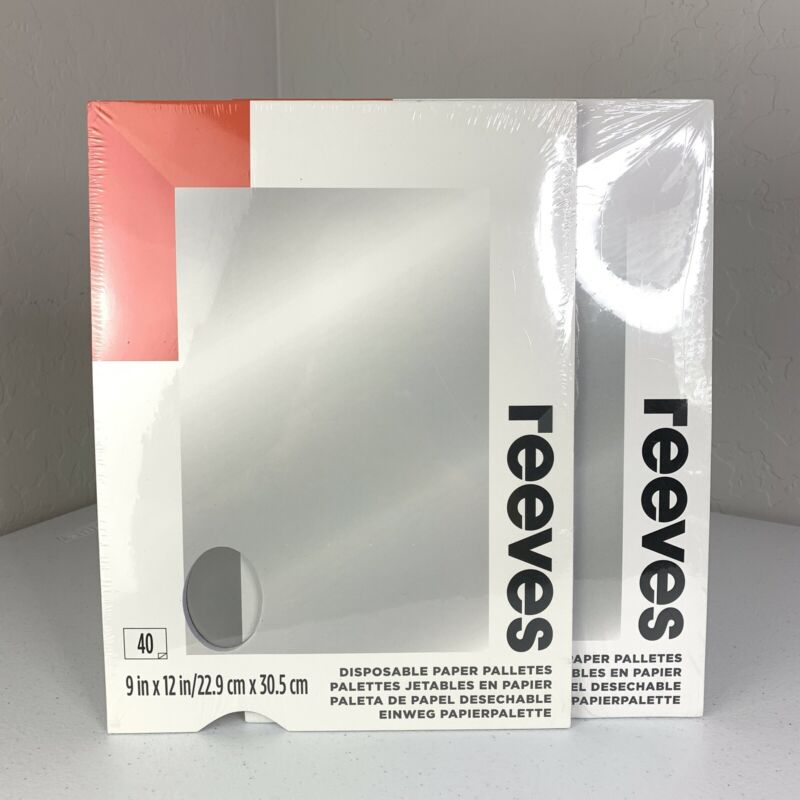 Reeves Disposable Paper Palletes 40 Sheets 9x12 inches