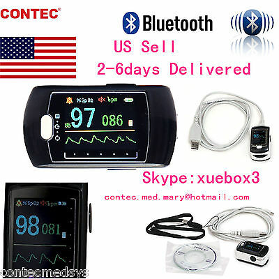Us-contec Sleep Study Finger Pulse Oximeter Spo2 Prsoftwarebluetooth Cms50ew
